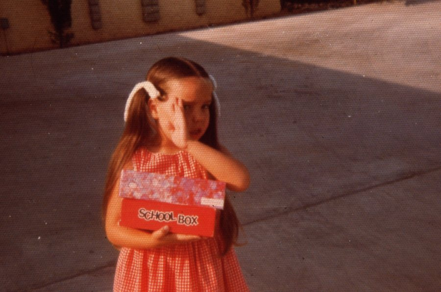 Jenny on First Day of Kindergarten